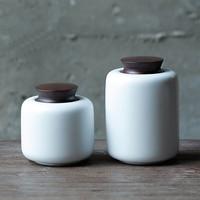 2017 China Storage Bottles High-grade ceramic tea canister Gift storage jar Tea caddy Sugar Bowl ,tea sets white A,B