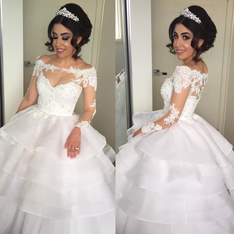 Vestido De Noiva Gorgeous Off The Shoulder Lace Appliques