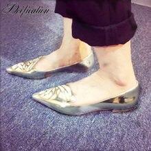 39642294e Deificação Chic Borboleta Embelezar Apartamentos Sapatos Mulheres Apontou  Toe de Couro sapatos de Plataforma Sapatos Casuais