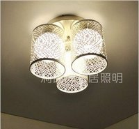 July Three Head Elegant Wrought Iron Bedroom Absorb Dome Light
