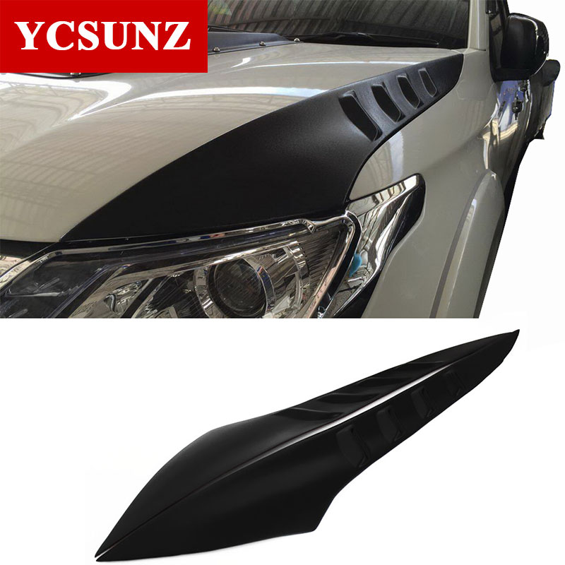 2017 Side Bonnet Cover for Mitsubishi l200 Triton Bonnet Hood Cover For Mitsubishi 2016 For Ycsunz ветровики prestige mitsubishi l200 triton strada 99 06