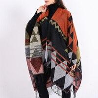 Charming Brand Design Bohemian Tassel Scarf Pashmina Women'S Winter Warm Scarves Shawls Female Longer Thicken Wild Cape Ponch