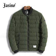 british casual men winter warm coats letter print NY quilted jackets men parkas bomber jackets coats male quilted coats