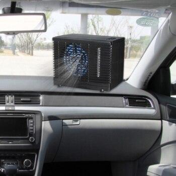 Alta qualidade 1 pc ajustável dc 12 v 60 w condicionador de ar do carro refrigerador refrigeração ventilador água gelo evaporativo refrigerador portátil quente novo