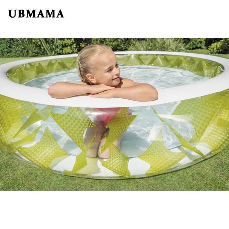 Новая мода бассейн Дети инфляция бассейн из ПВХ 229*56 см семьи надувной бассейн infanti бассейн крытый бассейн