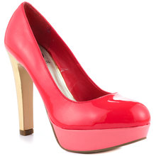 Candy Color Spliced Round Toe Mature Sexy Ladies Pump Shoes Platform Made-to-order Plus Size Shoes Chaussures Femmes