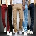 Mens Pantalones Pitillo Rectos Pantalones de Chándal Sweat Pants Pantalones Casual Slim Fit Stretch Sólido Primavera Otoño Pantalones ropa de Hombre