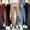 Mens Straight Skinny Pants Casual Stretch Slim Fit Solid Track Pants Sweat Pants Trousers Spring Autumn Pants Men's Clothing