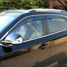 цена на For MG ZS 2018 Car Accessories Window Visor Sun Rain Wind Deflector Awning Shield Vent Guard Shade Cover Trim 4Pcs AITWATT