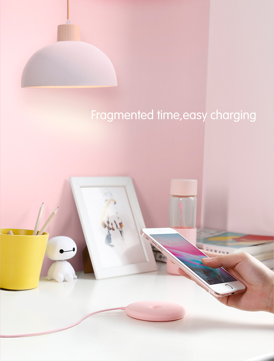 Person - Baseus 15W Fast Wireless Charger For iPhone/Samsung