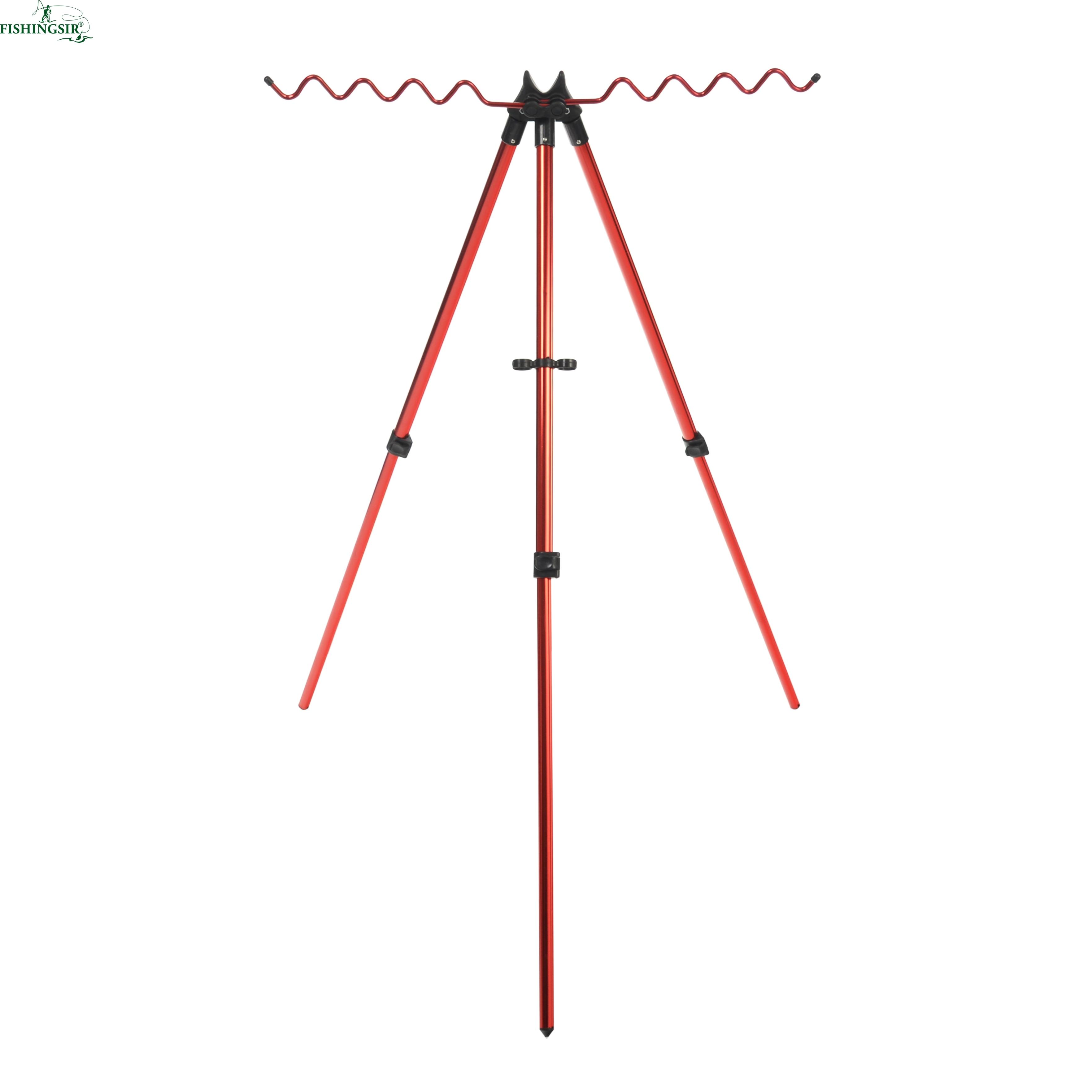 Portable Fishing <font><b>Rod</b></font> Holder Tripod Stand Aluminum Alloy Telescopic Fishing Pole Holder Adjustable <font><b>3</b></font> Sections Pesca Tackle Tools