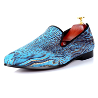 Harpelunde Flats Men Animal Printed Loafer Shoes Luxury Casual Shoes Free Drop Shipping Size 7 14