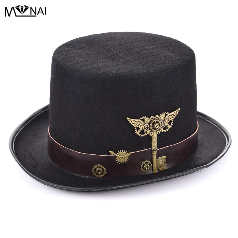Nov kostum Sombreros Steam Punk top klobuk s pasom in dodatki - Karnevalski kostumi