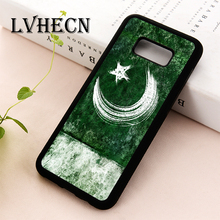 LvheCn TPU Skin phone case cover for Samsung Galaxy S5 S6 S7 S8 S9 S10 EDGE PLUS S10e lite Note 5 8 9 Pakistan Pakistani Flag