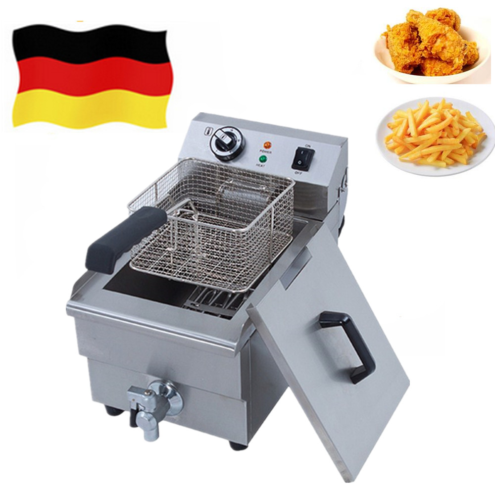 Commercial Household Frying Machine Electric Fried Chicken French Fries Potato Deep Fryer with CE approved shipule fast food restaurant 30l commercial electric chicken deep fryer commercial potato chips deep fryer frying machine