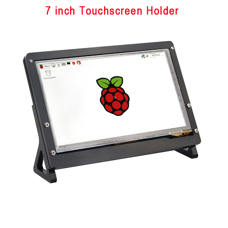 Black 7 inch LCD Display Touch Screen Housing Bracket for Raspberry Pi 3 Acrylic Holder for 7 inch Raspberry Pi LCD 1024 *600 3 5 inch touch screen tft lcd 320 480 designed for raspberry pi rpi 2