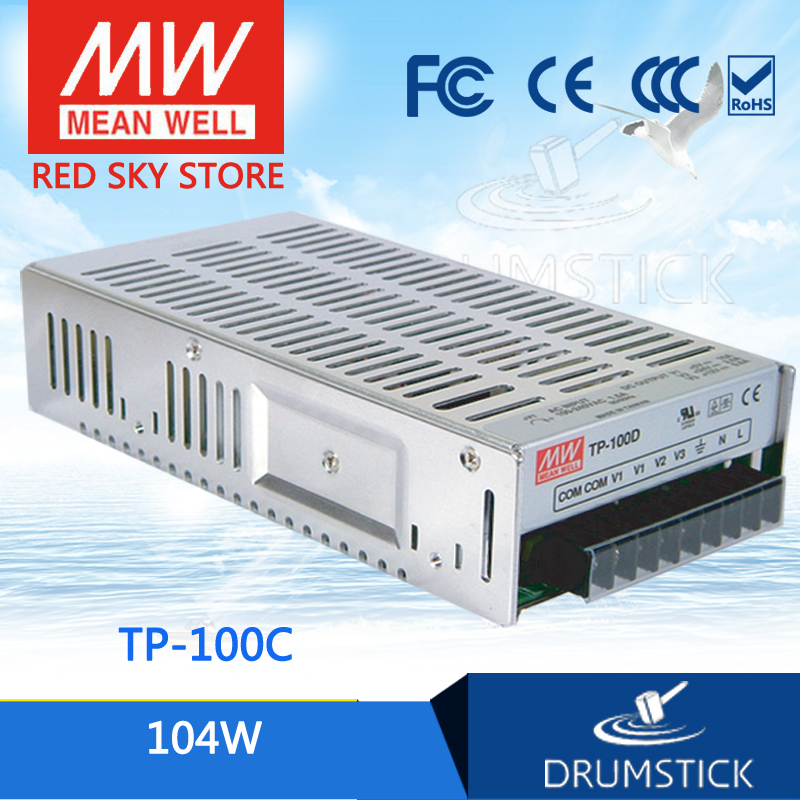 цена Hot sale MEAN WELL TP-100C meanwell TP-100 104W Triple Output with PFC Function Power Supply