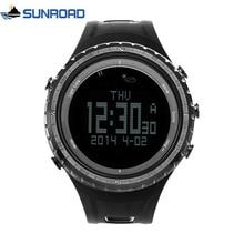 SUNROAD FR801 5ATM مقاوم للماء مقياس الارتفاع البوصلة ساعة توقيت الصيد مقياس الخطو في الهواء الطلق الرياضة ساعة رقمية الخلفية الرجال