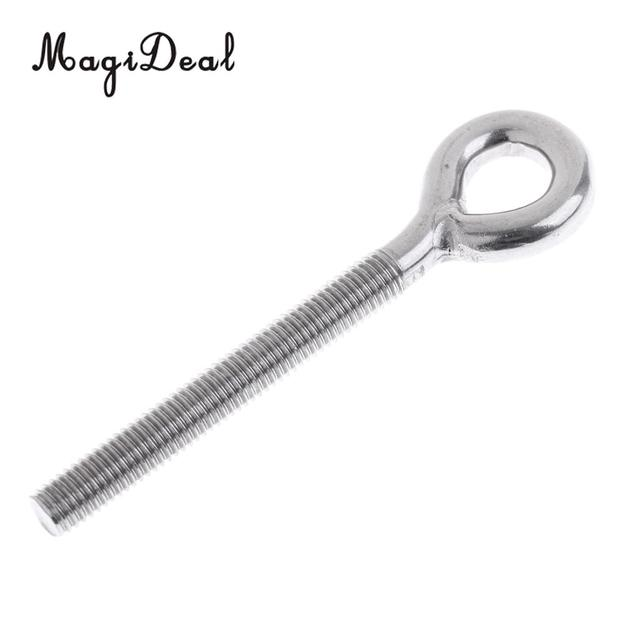 US $1 71 18% OFF MagiDeal Heavy Duty 304 Stainless Steel Long Lifting Eye  Bolts Welded Eye Metric Size M4, M5, M6, M8, M10, M12 -in Rowing Boats from