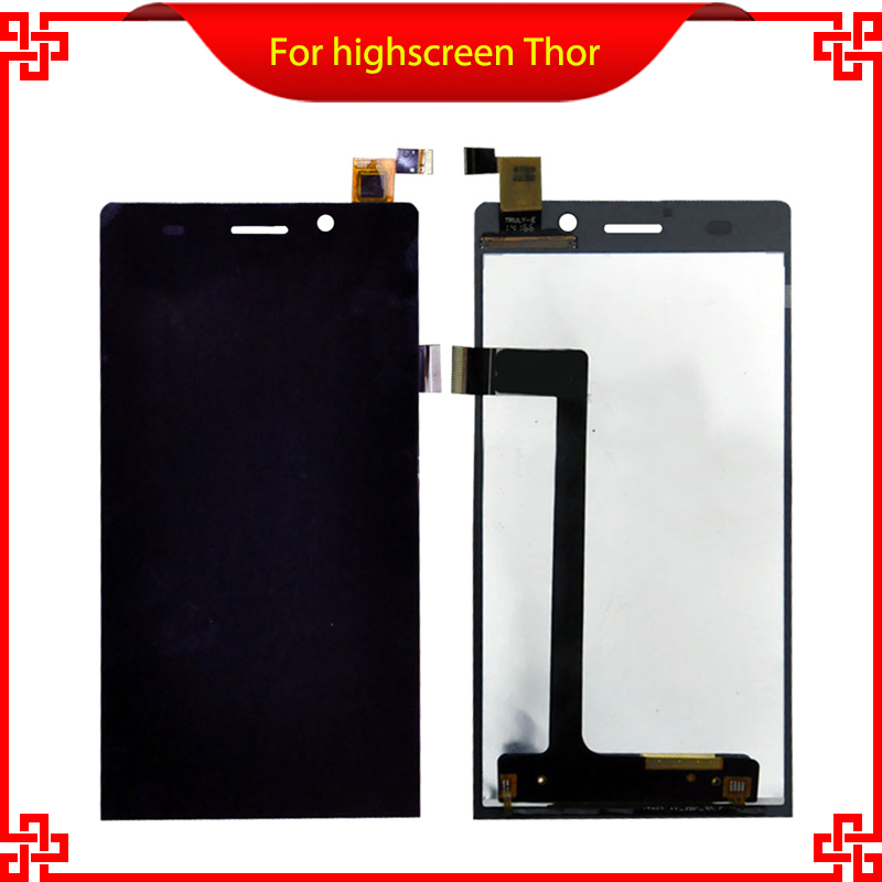 Original For Highscreen Thor Full LCD Display Touch Screen Digitizer Mobile Phone LCDs
