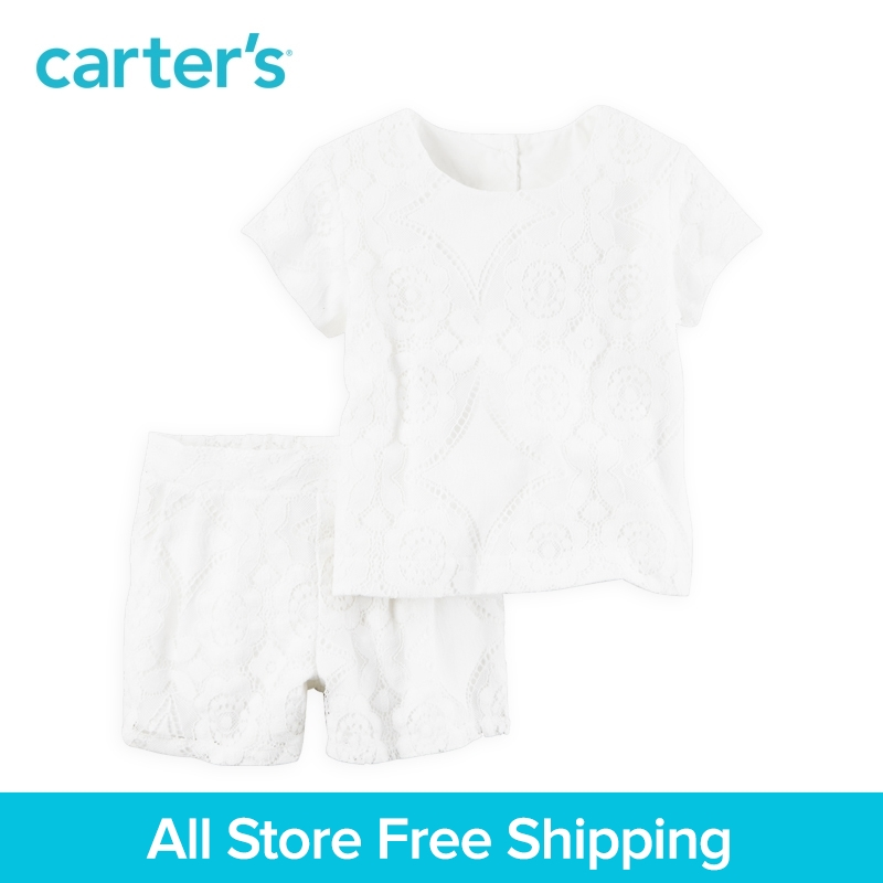 Carter's 2pcs baby children kids clothing girl fall&winter Lace Top & Short Set Banded waist Functional pockets 259G295 вечер джаза для двоих