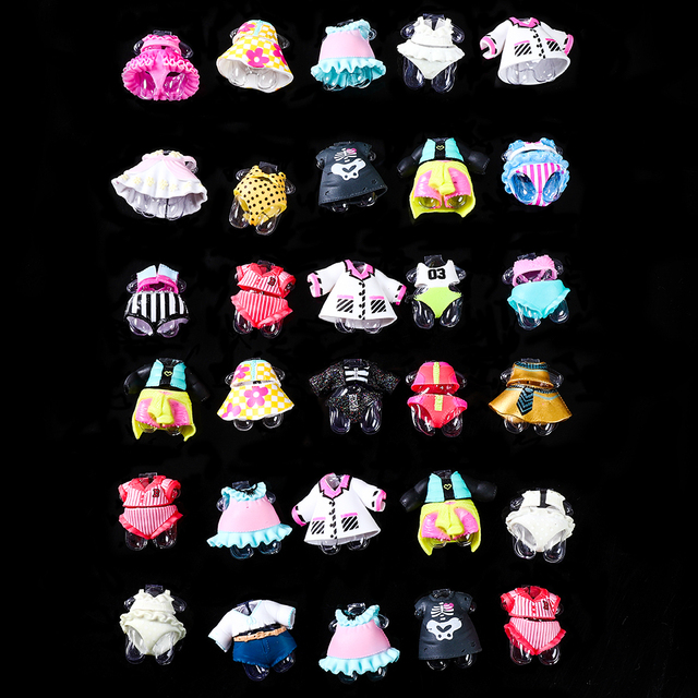 2 pcs original para série lol 3 4 5 Meninas Boneca Acessórios DIY boneca Vestido roupas Diferentes Brinquedos para o Bebê presentes dos miúdos