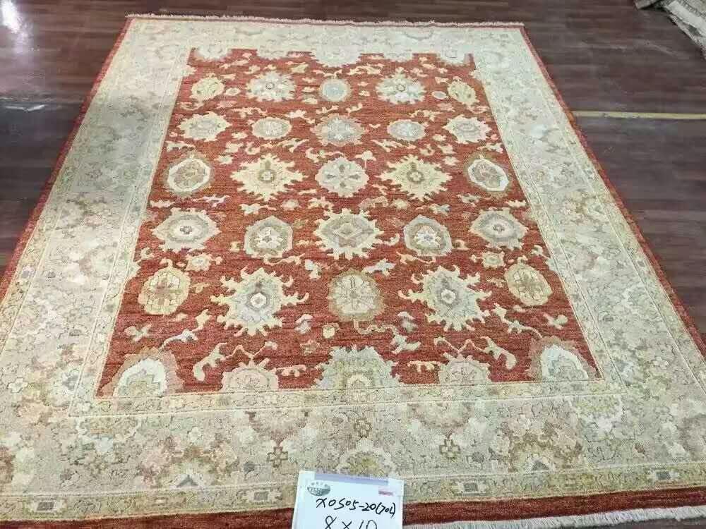 Livraison gratuite 8'X10' 70 lignes laine nouée à la main Oriental oushak tapis fait main antique oushak tapis