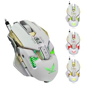 Image 2 - Zerodate 3200 dpiのusb有線競争ゲームマウス7プログラマブルボタン機械式マクロ定義プログラミングゲームマウス