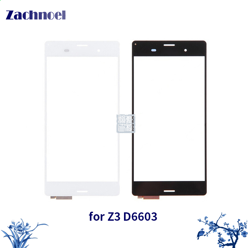 Zachnoel 5.2'' Touch for Sony Xperia Z3 D6603 D6633 Touch Screen Digitizer Sensor Lens Front Glass Panel Touchscreen