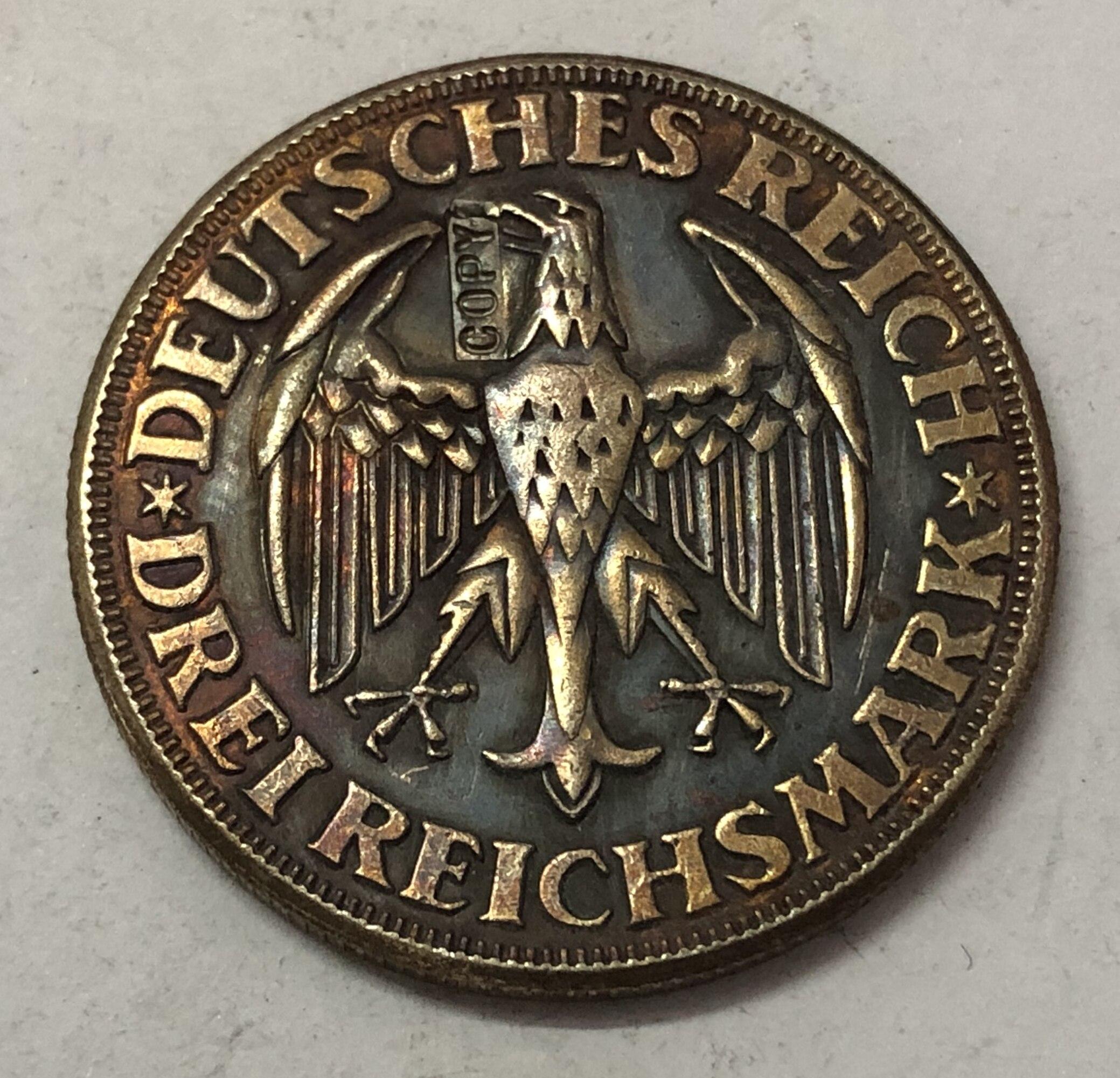 1928  Germany  3 Reichsmark Dinkelsbuhl