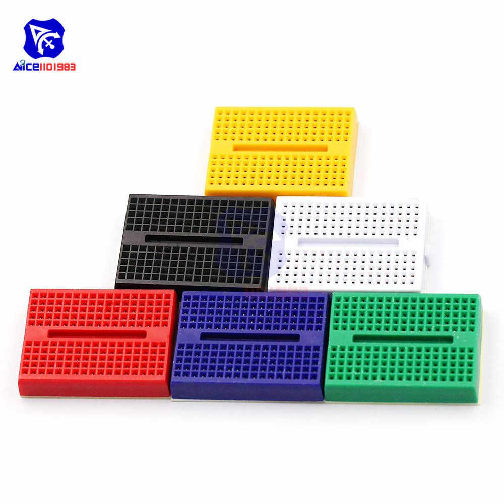 1 חתיכה 6 צבע ערך צהוב/לבן/אדום/ירוק/כחול/שחור PCB 170 לקשור mini ללא הלחמת טיפוס לarduino הפרוטו חומת