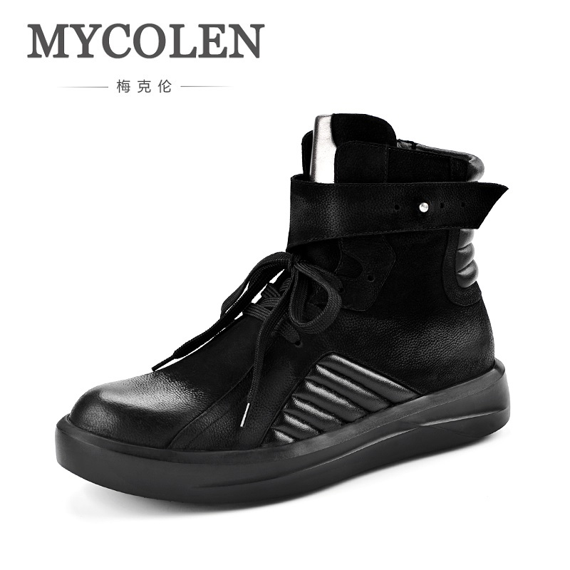 MYCOLEN New Winter Fashion Shoes Elegant Stars Hip Hop Shoes Men Street Dance Casual Shoes High-Top Boots Ayakkabi Erkek gran epos 2017 new mens casual shoes man flats breathable fashion low high top shoes men hip hop dance shoes for male zapato