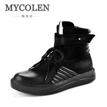 Mycolen nueva moda de invierno Zapatos elegante estrellas hip hop Zapatos  hombres street dance casual Zapatos de Botas ayakkabi . 7e822549ab7