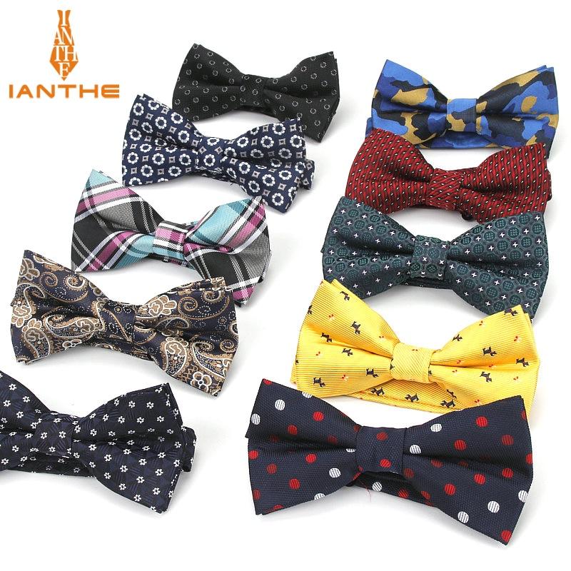 Bowtie Men Formal Necktie Boy Men's Fashion Business Wedding Bow Tie Male Dress Shirt Krawatte Legame Gift Paisley Dot Butterfly