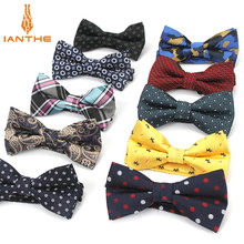 Bowtie men formal necktie boy Men's Fashion business wedding bow tie Male Dress Shirt krawatte legame gift paisley dot butterfly(China)