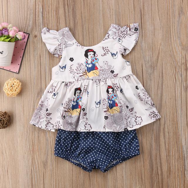 Newborn Baby Girl Clothes Set Summer Vest Tops Sleeveless T shirt Dot Shorts Girls Clothing Cotton Cute Princess 2pcs Outfits