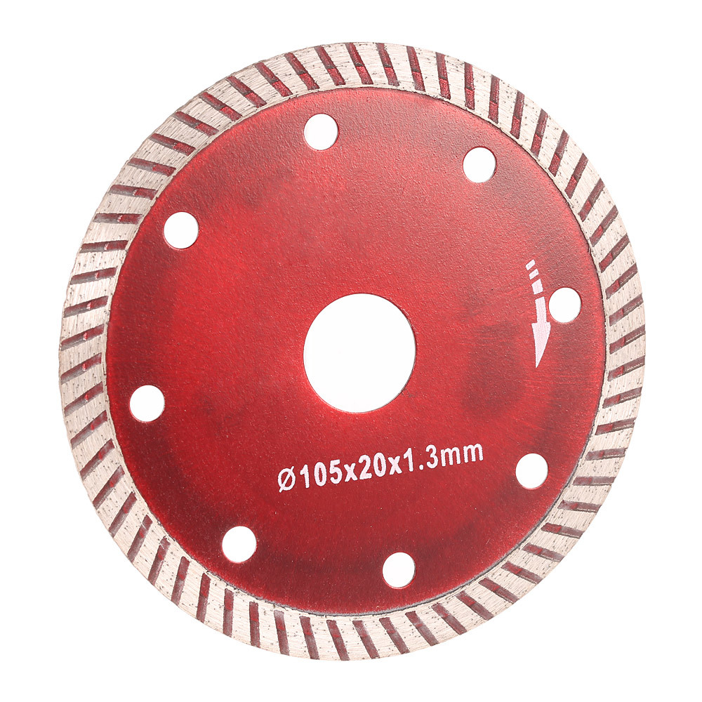 105*1.0*20mm Diamond Cutting Disc Saw Bit Continuous Turbo Diamond Blade With 8 Cooling Hole Ceramic Incising For Angle Grinder