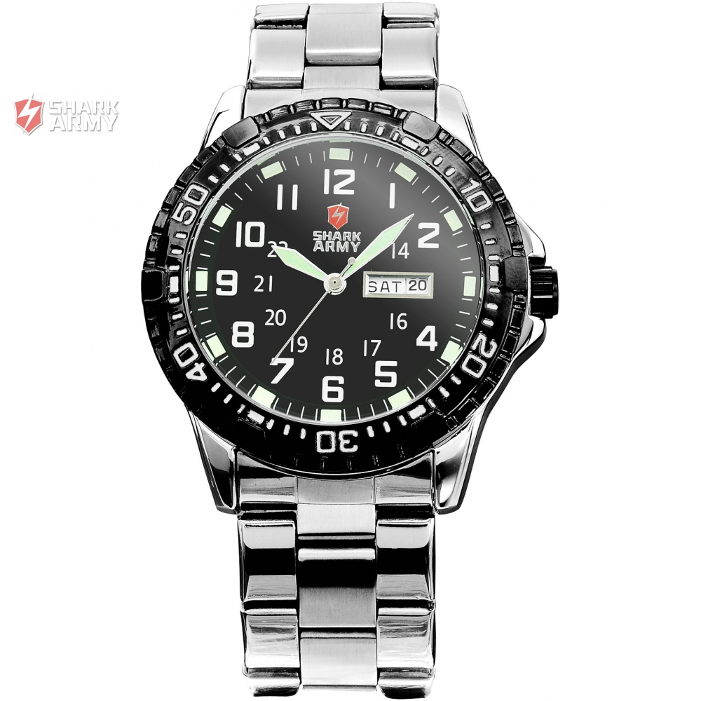 Uhren Herren Us 21 99 Shark Armee Männer Sport Uhren Herren Quarz Multifunktions Military Watch Edelstahl Armbanduhren Horloges Mannen Saw017 In Shark Armee