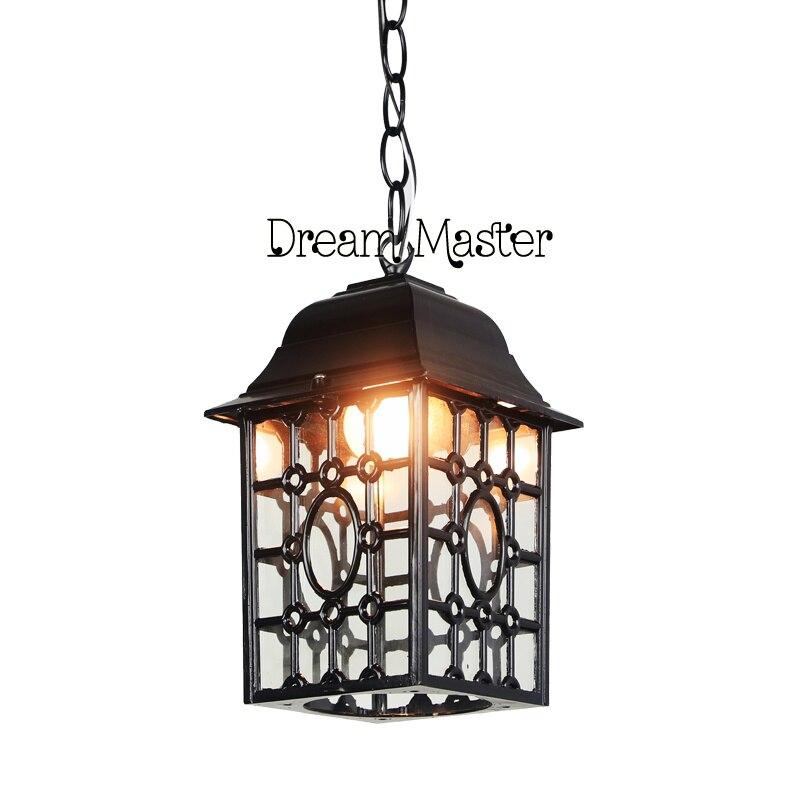 outdoor chandelier outdoor courtyard lamp table lamp restaurant decorative lamp door retro led hanging lamp