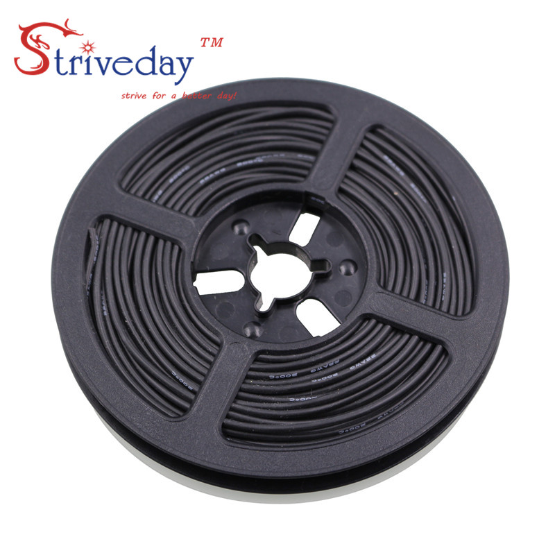 50 meters roll 164ft 26AWG high temperature resistance Flexible silicone wire tinned copper wire RC power Electronic cable in Wires Cables from Lights Lighting