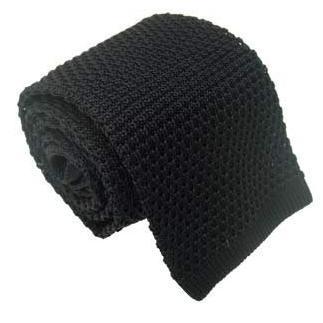 2019 padat rajutan ikatan kurus untuk pria wol Crochet hitam dasi - Aksesori pakaian - Foto 3