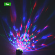 Colorful shake Auto Rotating Stage Disco Light E27 3W 6W RGB Atmosphere LED Lamp Party Light Bulb Home Decoration DIY Lighting(China)