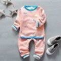 2-5 T niños ropa interior para niños muchachas del invierno que arropan el sistema warm long johns niña niño catoon Valor Bebé pijama de espesor