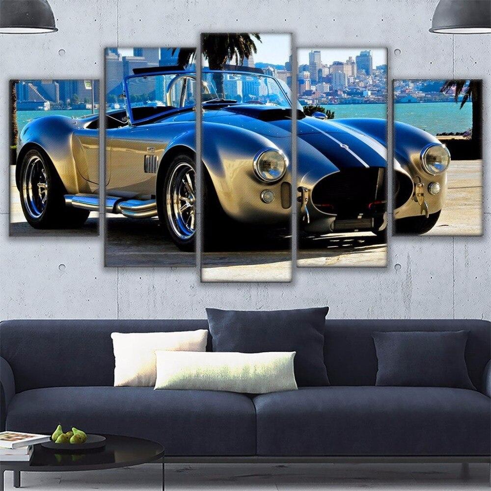 Wand Kunst Wohnkultur Wohnzimmer Rahmen Leinwand Bilder 5 stück Ford ...