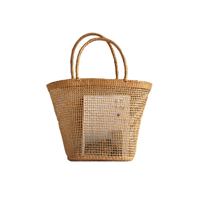 Straw Woven Bag - Reusable Handbag Shopping Bag - 37x25CM