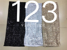 3 color option new arrive stock BB88# stripe sequin embroidery tulle mesh lace fabric for bridal wedding dress/sawing