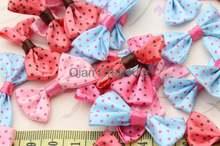 Сатиновые галстуки бабочки в горошек 300 шт 35 мм банты для