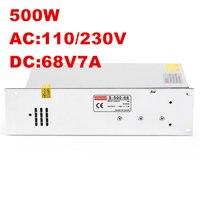 8 шт Новый 500 W 68 V Питание 68 V 7.3A SMPS AC DC 68 V AC 100 240 V