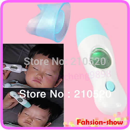 Portable 4 in 1 Infrared Thermometer For Baby Adult Digital Display Body Forehead Ear Multifunctional Meter