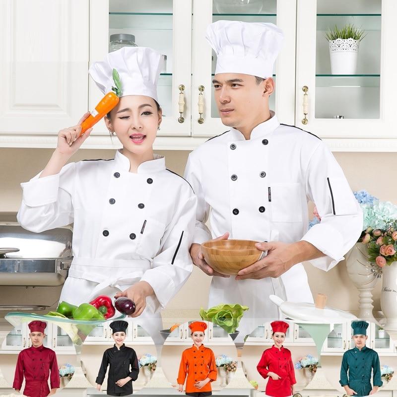 (10sets-Hat&Shirt&Apron)Japanese Cuisine Served Long-sleeve Cake Pastry Uniform Teppanyaki Chef Uniform Restaurant Work Clothes